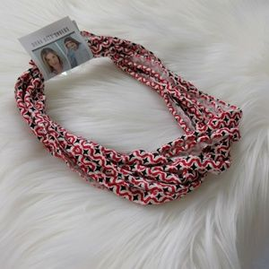 Lucky Red Shredded Fabric Headband